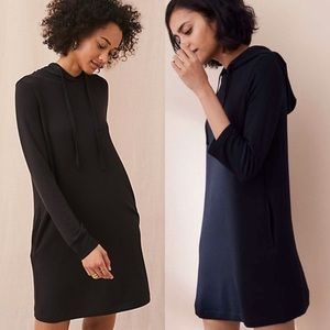 Lou and Grey Hooded Long Sleeve Dress Black Size M